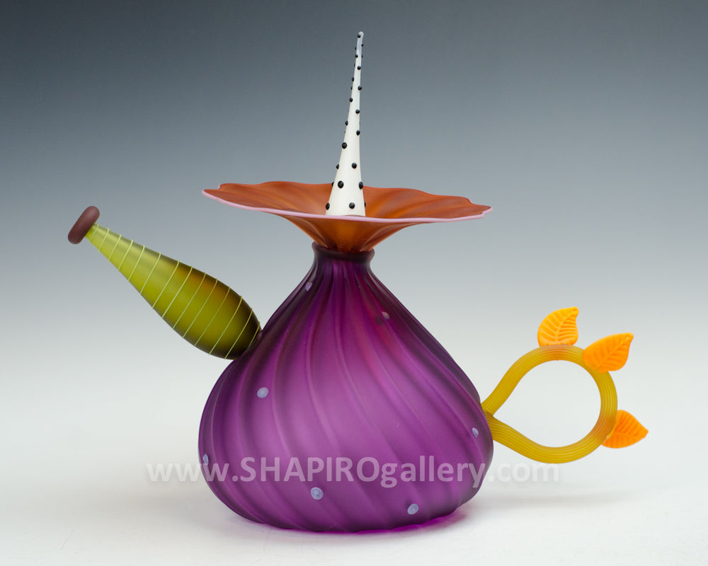 Blown Glass Decorative Tea Pot