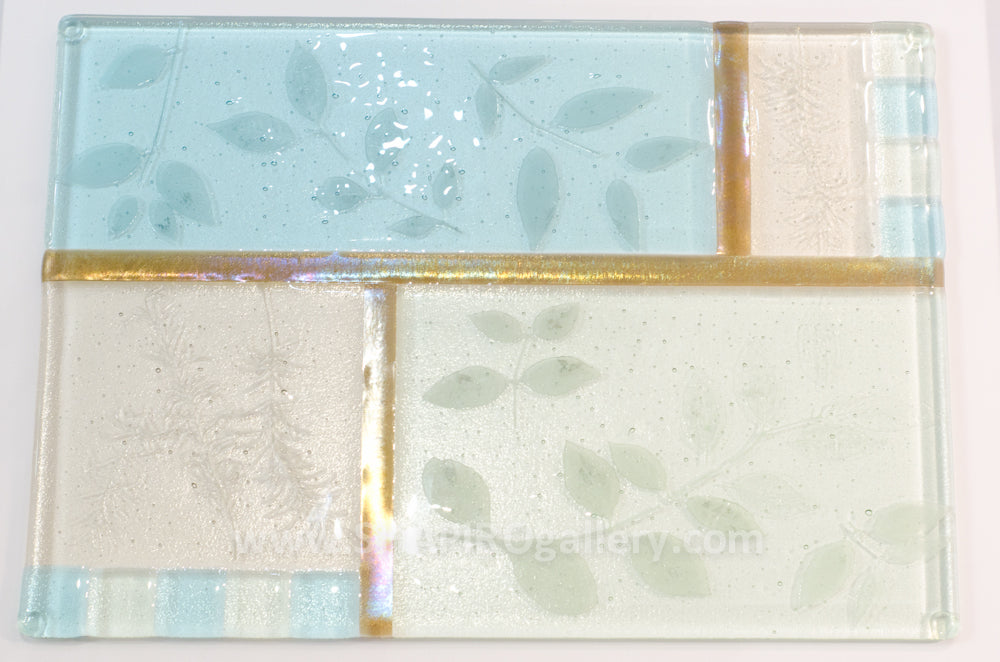Watercolor Small Glass Charcuterie Tray
