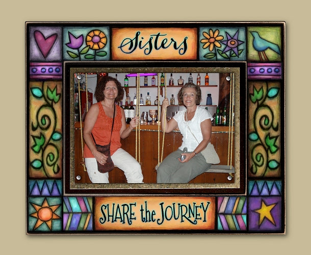 Sisters Share the Journey Photo Frame
