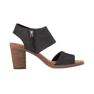 Toms Majora Cutout Sandals - Women's, Black Denim