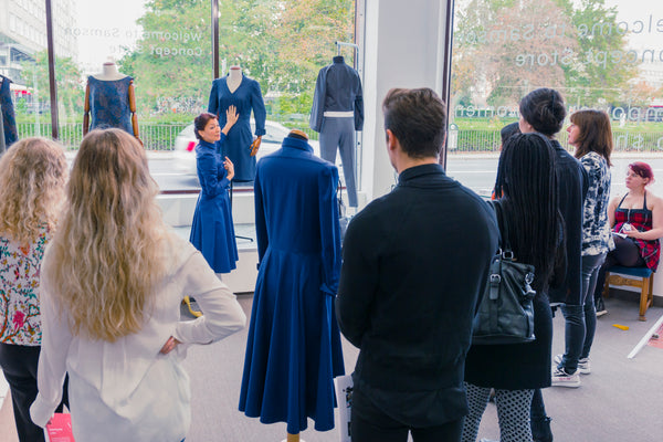 The Tailoring & Pattern Making Academy of Malmö visited us to learn more about Samson
