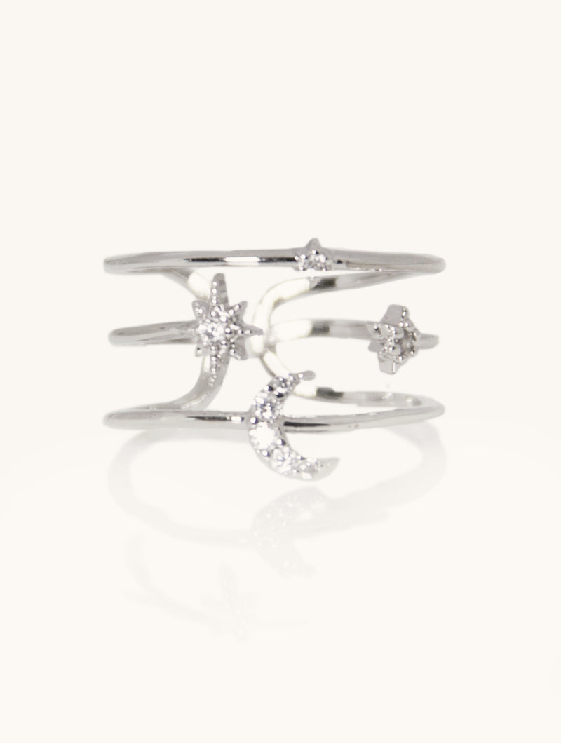 Abigail Moon & Stars Ring
