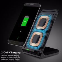 Load image into Gallery viewer, Standing Wireless Charger With Fast Charge (For Samsung, iPhone, And Android)