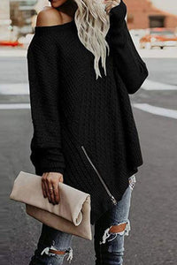 Fashion loose round neck sweaters