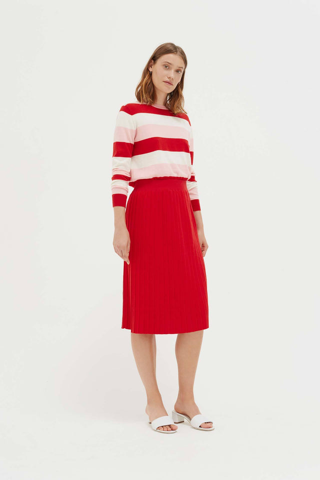 Red Cotton Day Dreamer Skirt image 1