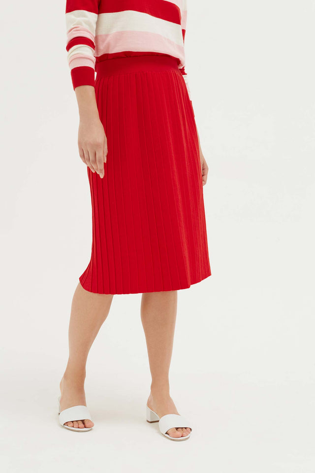 Red Cotton Day Dreamer Skirt image 3