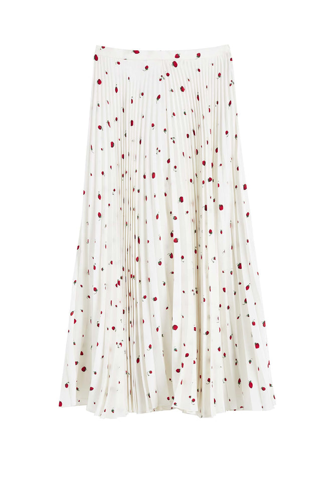 Ivory Strawberry Field Silk Skirt image 2
