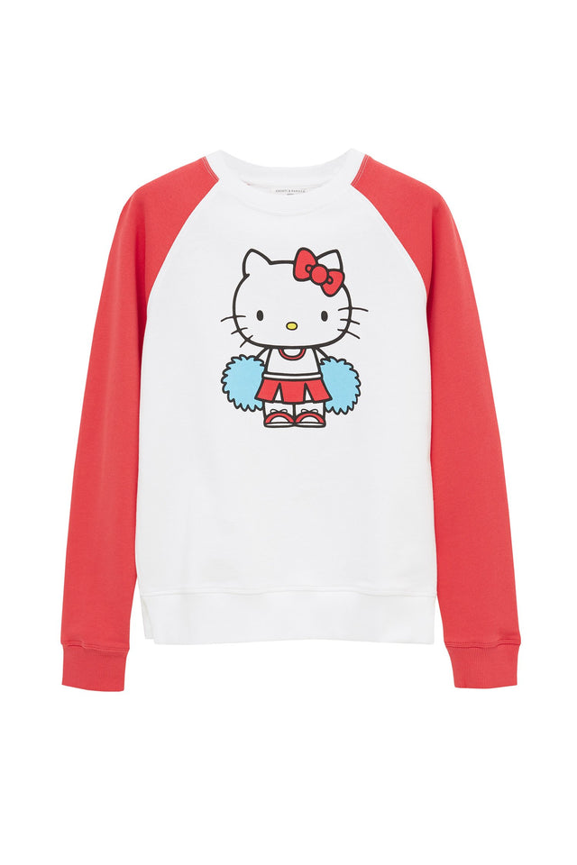 Cream Hello Kitty Cheerleader Sweatshirt image 2