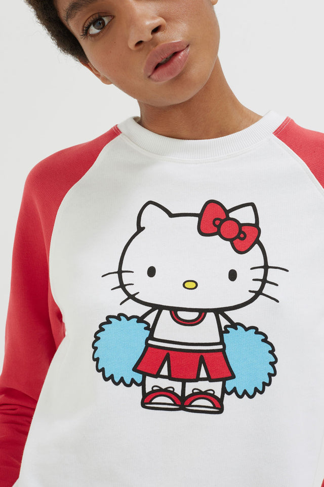 Cream Hello Kitty Cheerleader Sweatshirt image 4