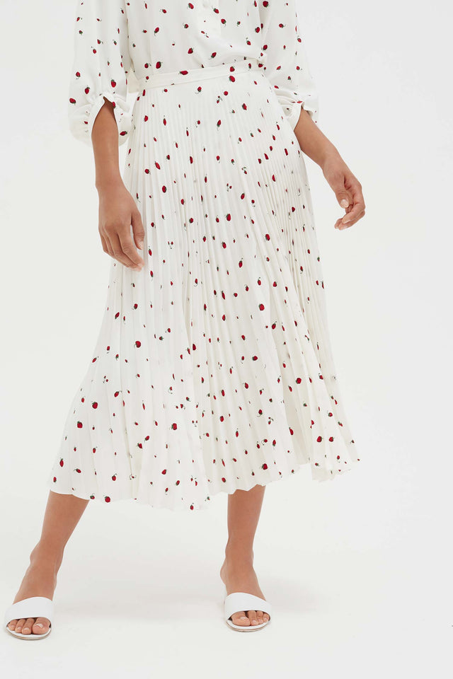 Ivory Strawberry Field Silk Skirt image 5