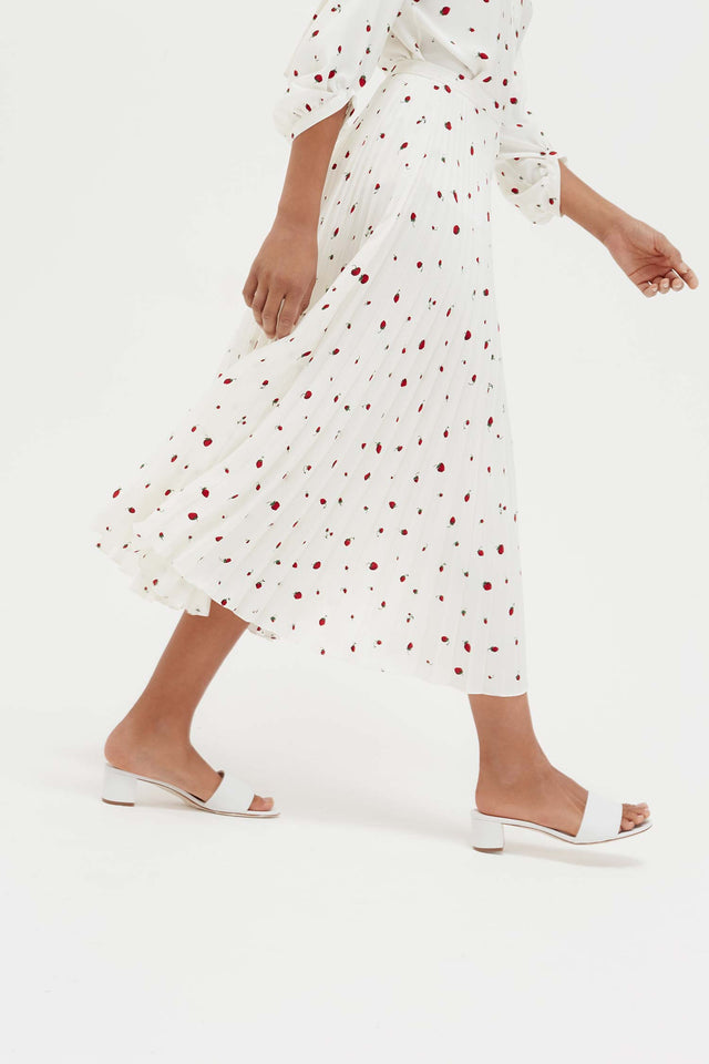 Ivory Strawberry Field Silk Skirt image 8