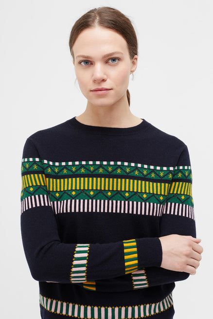 Navy Le Cirque Fairisle Sweater