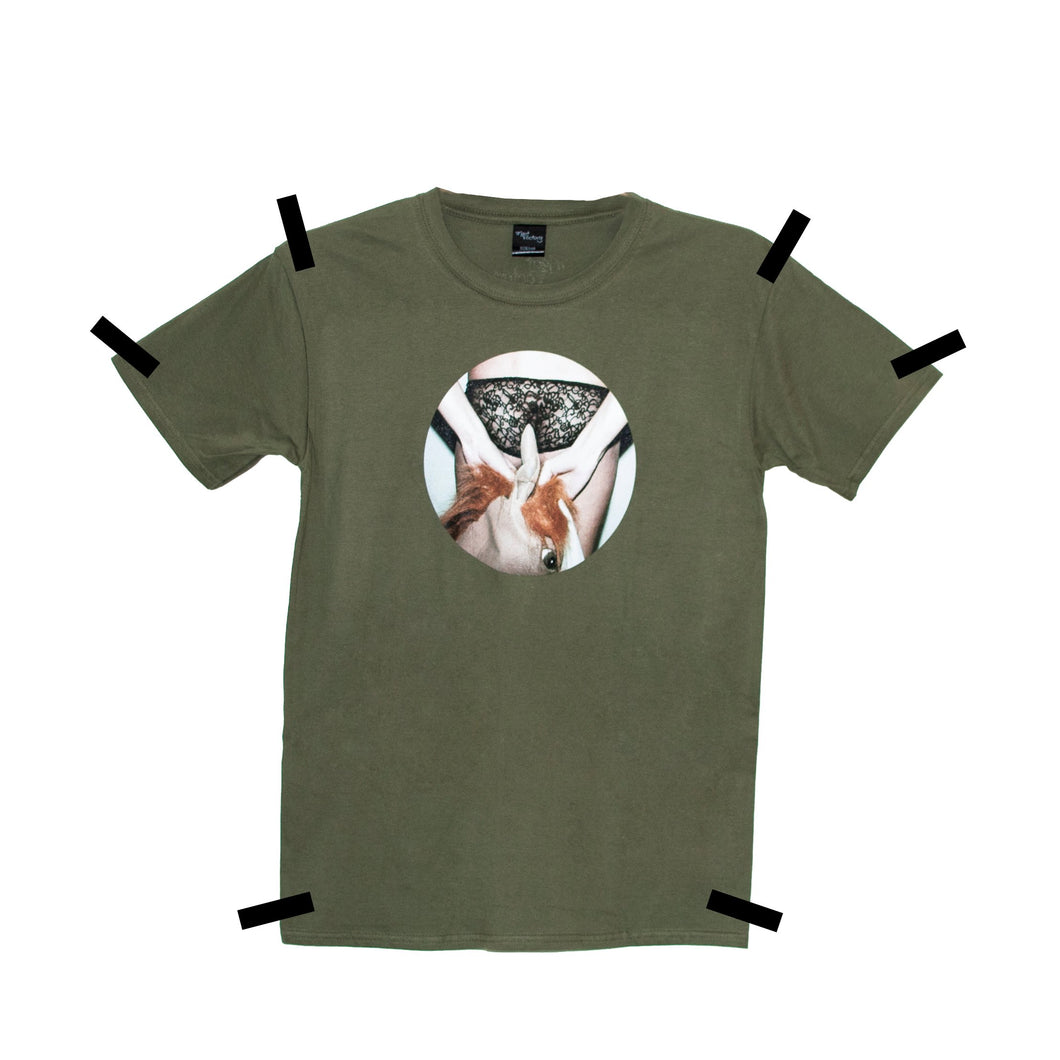 THE EYE KHAKI T-SHIRT