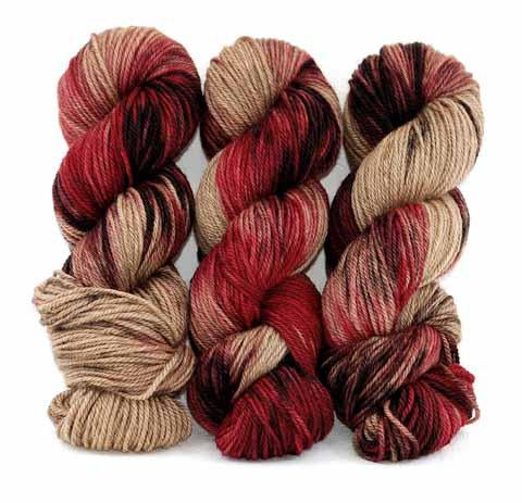 Chocolate Cherries in Lascaux Worsted