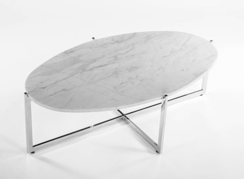 Oval Cocktail Table [FHT09WHT] 2