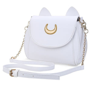 Cat Shape Chain PU Leather Crossbody Bag - Lellasbags
