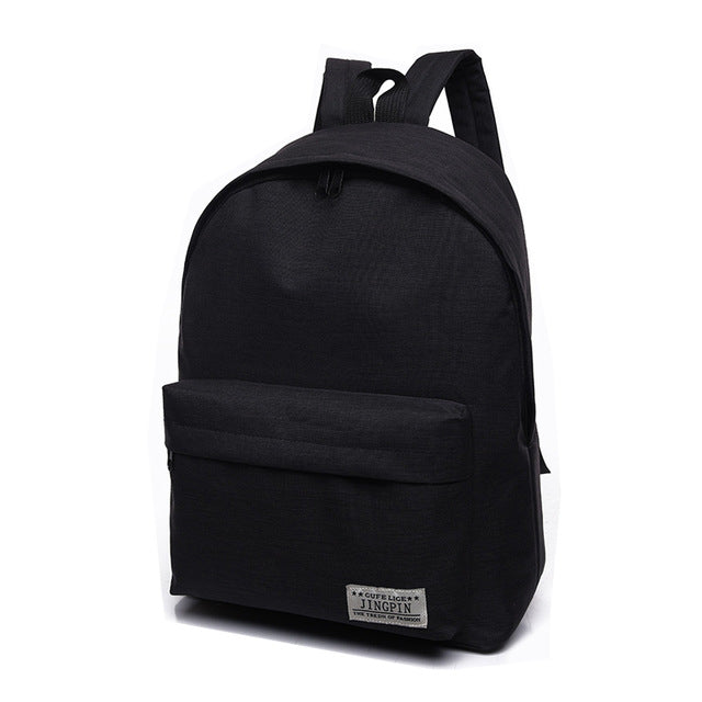 Simple Canvas High Quality Laptop Backpack - Lellasbags