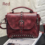 Rivet Vintage Leather Crossbody Bags - Lellasbags