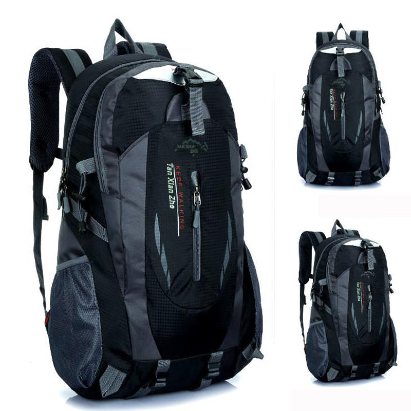Unisex Nylon Waterproof Backpack - Lellasbags