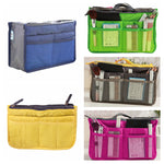 Organizer Insert Bag Women Nylon Travel Insert Organizer Handbag Purse Large liner Lady Makeup Cosmetic Bag Cheap Female Tote - Lellasbags