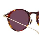 Linda Farrow Linear 06 C9 Oval Sunglasses