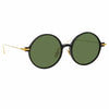 Linda Farrow Linear 9 C9 Round Sunglasses