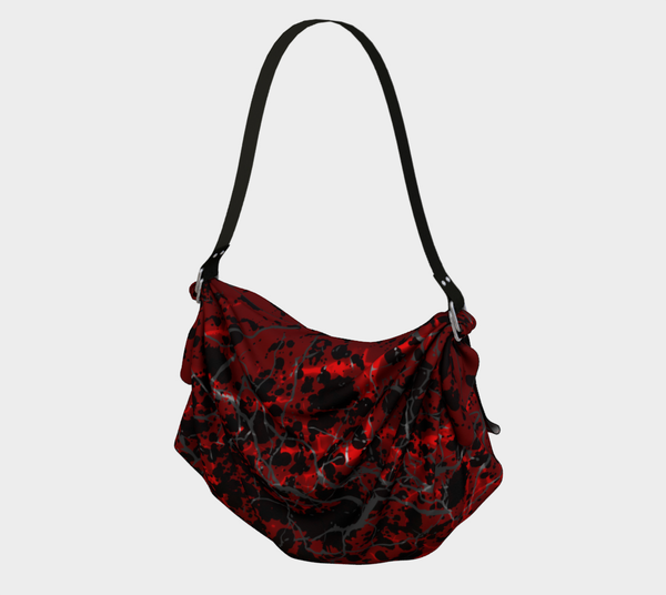 Cracked Blood Gothic Horror Print Hobo Bag