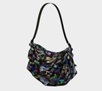 Rainbow Mist Gothic Skulls Art Print Hobo Bag