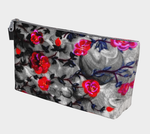 Neon Roses Gothic Art Makeup Bag