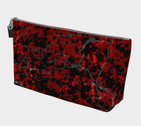 Cracked Blood Gothic Horror Print Makeup Bag