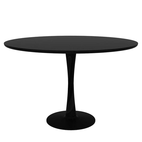 OAK TORSION DINING TABLE – BLACK