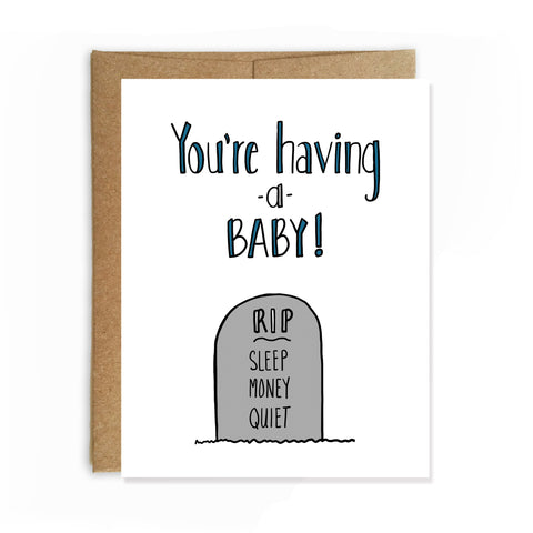 Having a Baby, Congratulations Card - NEW