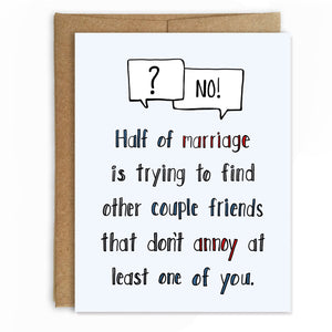 Marriage Advice, Wedding Card - NEW