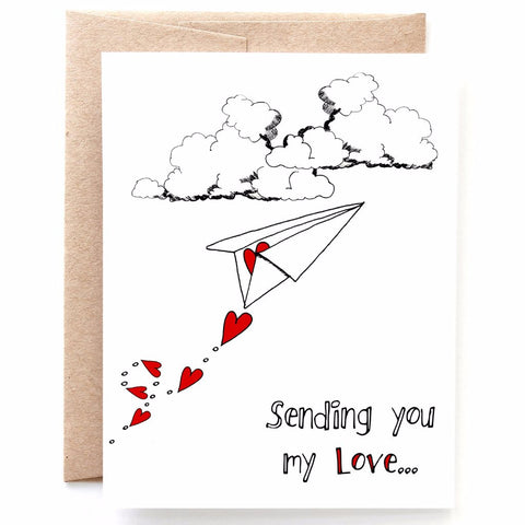 Sending You My Love Valentine's Day Card