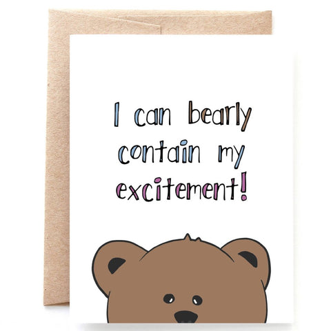 Bearly Contain Excitement Congratulations Card