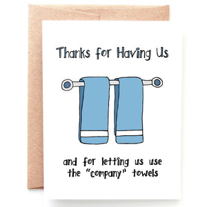 Company Towels Thank You Card