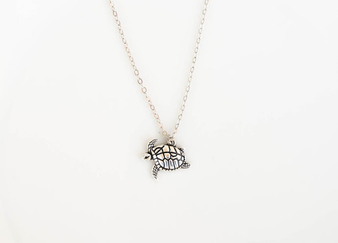 Swimming Turtle Necklace