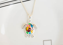 Load image into Gallery viewer, Rainbow Sea Turtle Necklace