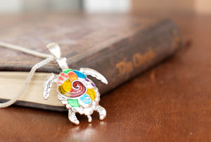 Rainbow Sea Turtle Necklace