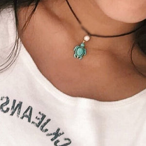 Be Like The Turtle-Green Choker