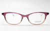 Translucent violet acetate with gold metal temples