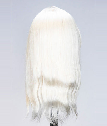 Bianca Platinum Blonde Human Hair Mannequin for color deposit - 12 inch hair