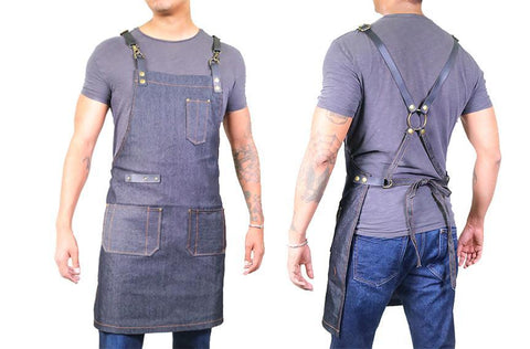 Barber Apron - Dark Wash Denim [Unisex]