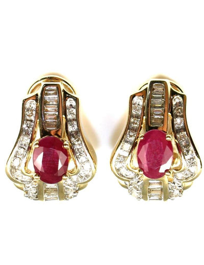 Ruby and Diamond Earrings, 6007