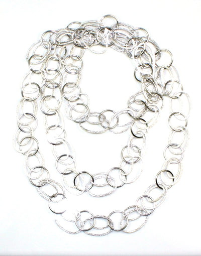 "Double Oval Link 43""Necklace, 5711"