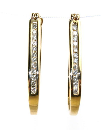 .25ctw Diamond Hoop Earrings, 6042