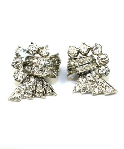 Diamond 1.72ctw Vintage Post Earrings, 6027
