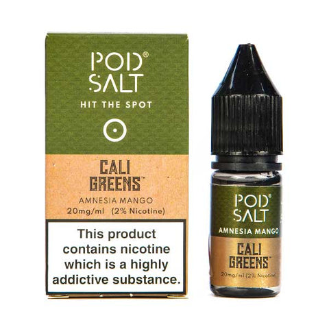 Amnesia Mango Nic Salt E-Liquid by Pod Salt