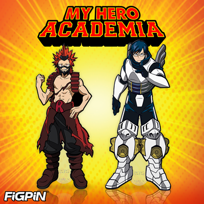 Tenya & Eijiro join the My Hero Academia FiGPiN collection this July!