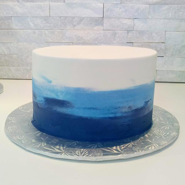 Ombre Buttercream Cake